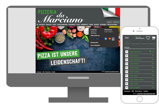 lieferservice beispiel damarciano onlineshop mit verweis zum lieferservice